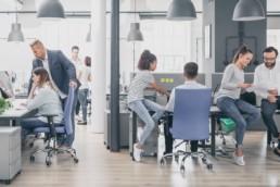 Millennials working in an intergenerational workplace
